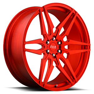 all red forged alloy wheels