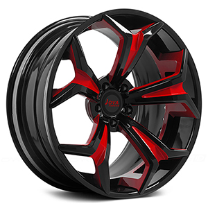 black rims with red trim