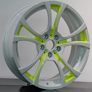 white and green rims