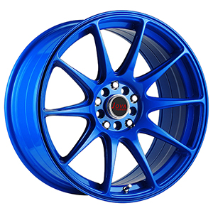 bright blue wheels
