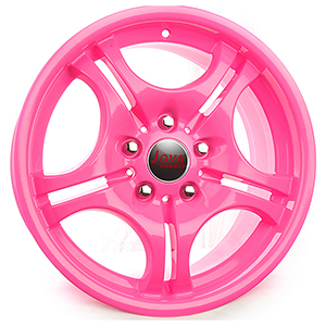 pink car wheels
