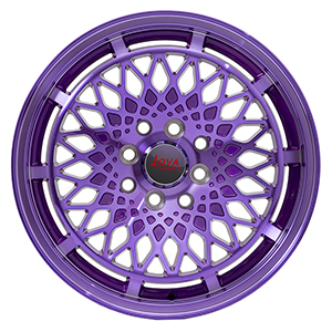 purple car wheels