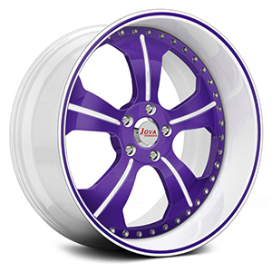 white and purple rims