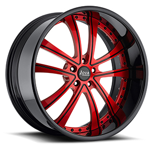 black and red rims