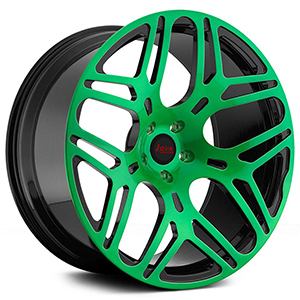 black and green rims