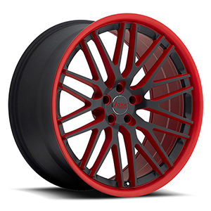 black rims red lip