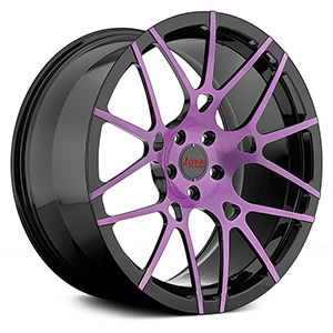 black and purple rims