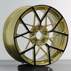 gold and black rims