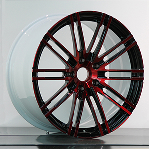 red black car wheels