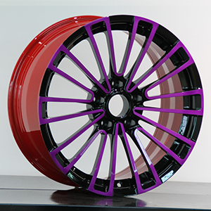magenta and black wheel