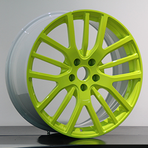 white and fluorescence green rims