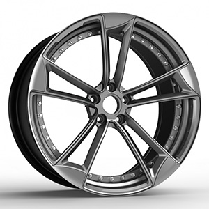 black and silver rims
