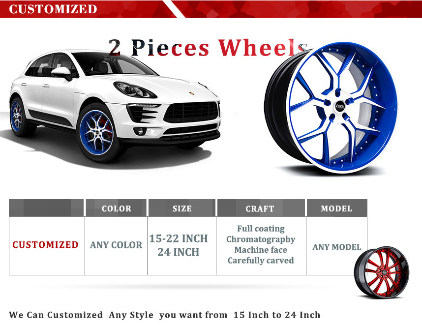 two pieces wheels customized