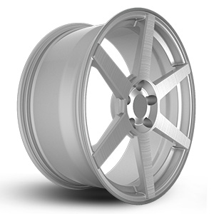 brushed aluminum rims