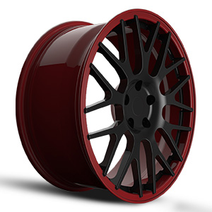 dark red rims
