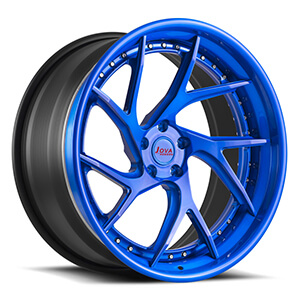 black and blue rims