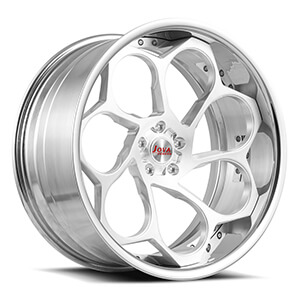 silver machined wheels