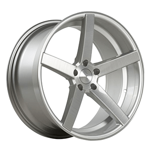 Custom audi wheels silver with wire drawing lips