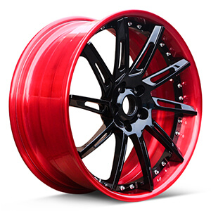 red and black wheels for automotive