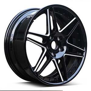 6 spoke black wheels