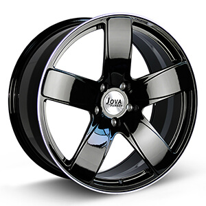 5 spoke black rims