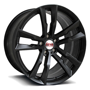 5 spoke matte black rims