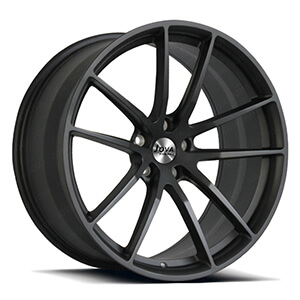 matte black forged rims