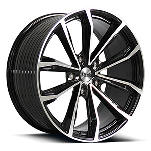 Black automotive rims