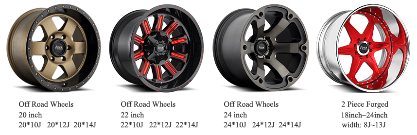 wholesale forged deep lip off road wheels