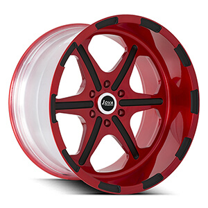deep dish truck rims red
