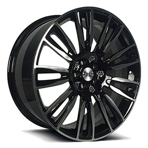black machined wheels 21x9.5