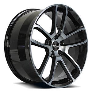 transprant black forged wheels