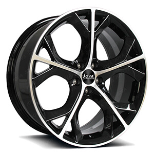 machined black wheels