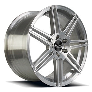 brushed aluminum wheels