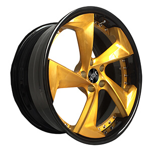 black and gold forged wheels