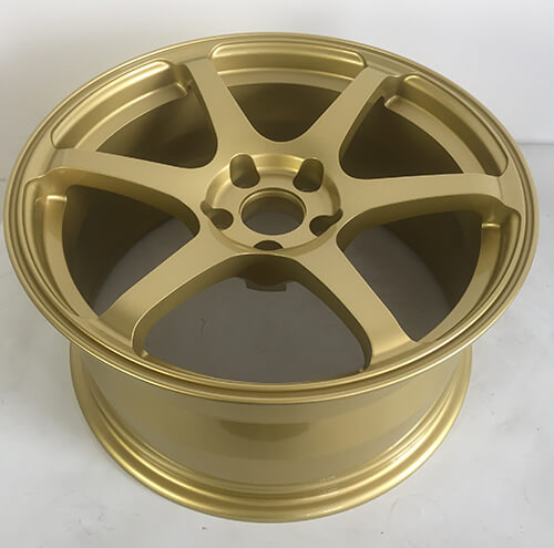 mustang gold wheels