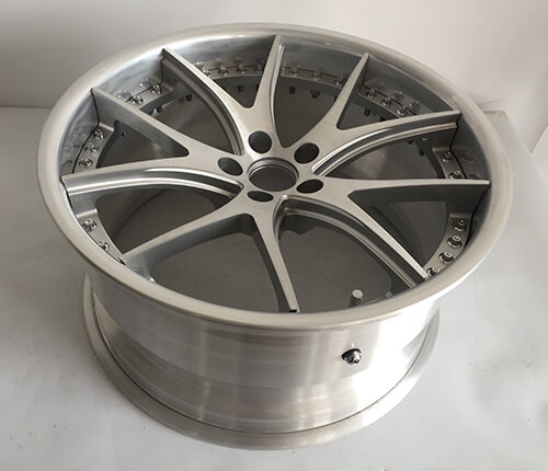 2 piece brushed rims