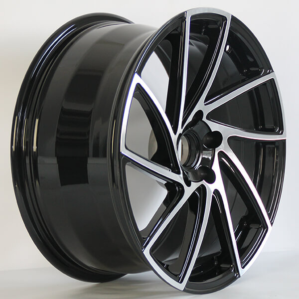 black machined rims wholesale