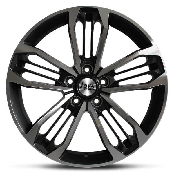 mustang wheels black machined