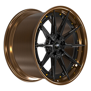 bronze and black rims
