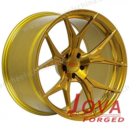 Gold concave wheels custom forged 19 inch