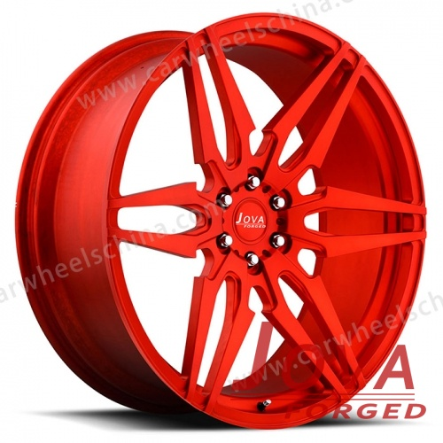 All red alloy wheels forged 6 lug 6 hole