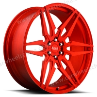 red forged wheels