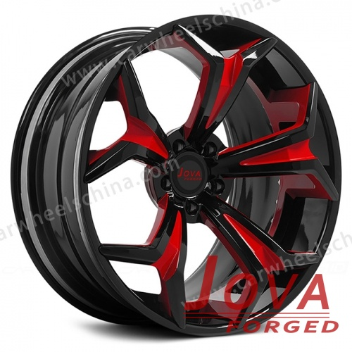Custom black rims with red deep dish rims