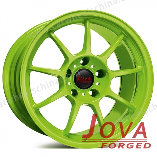 Audi green forged aluminum alloy wheels