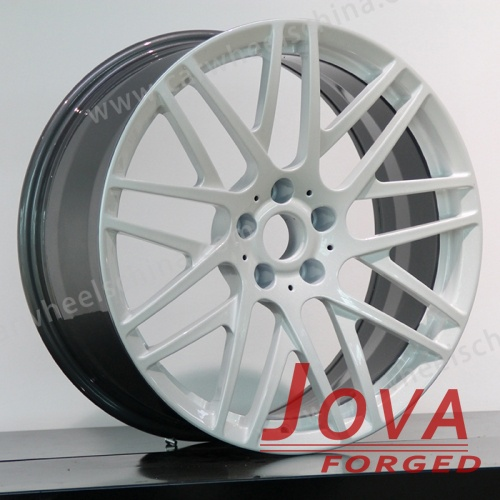 White and black rims forged wheels 17 Inch