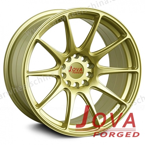 Car wheels lightweight forged metallochrome in light bule