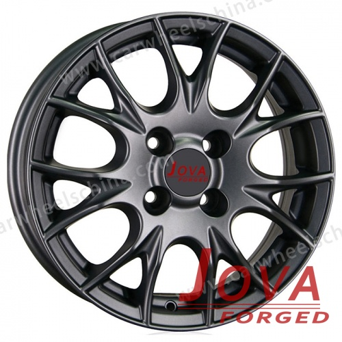 Black wheels forged matte metallochrome spoke
