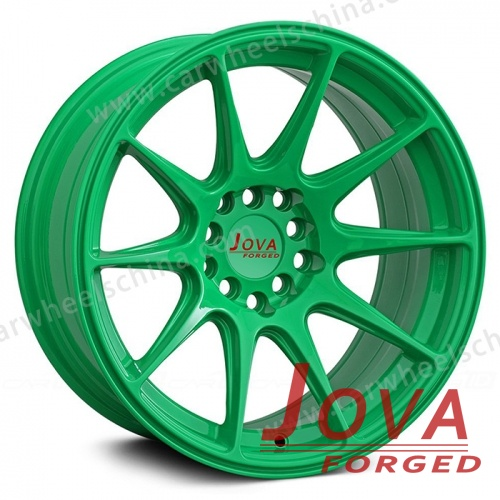 Forged wheels green rims fine spokes for car