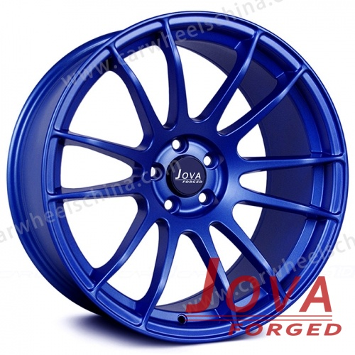 Blue rims car wheels concave 18 inch